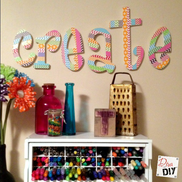 Washi Tape Letters Diva Of Diy