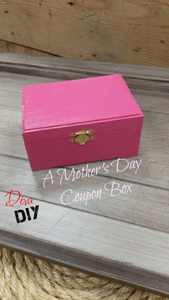 A Mother's Day Coupon Box