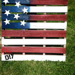 american flag from a pallet for 4th of july decor