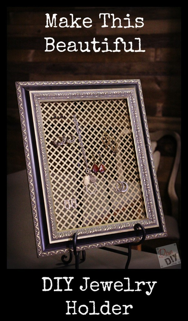 DIY Jewelry holder pinterest pic