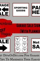 Garaage Sale Kit Printable Image Diva of DIY