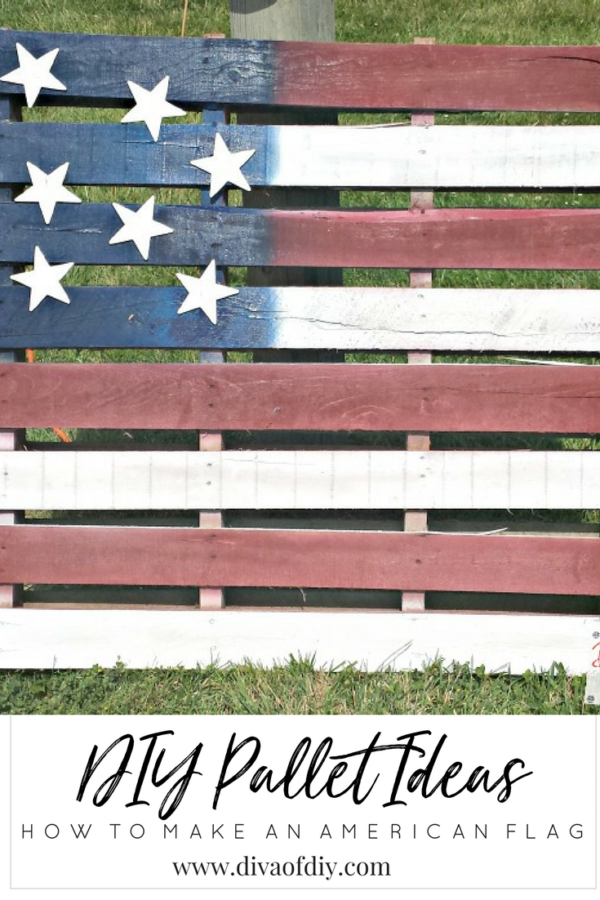 Diy Pallet Ideas Make An Easy And Inexpensive American Flag Pallet