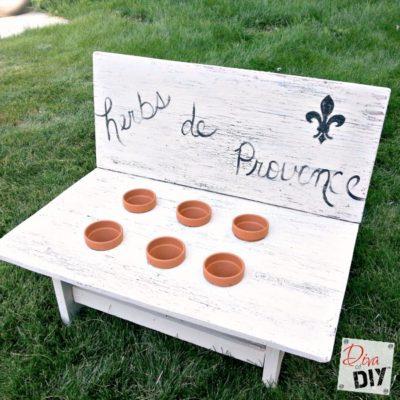 How to Make an Easy Herb Garden Bench