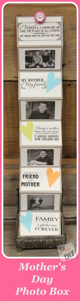 This Mother's Day Photo Box is a simple way to let mom know she is loved!  In just a short time, you can have a custom gift she'll treasure for years to come!!