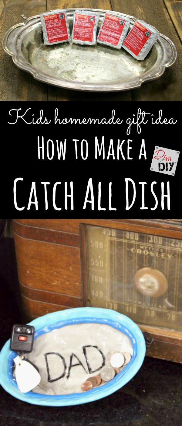 "Everyone loves a homemade gift from kids. Make the people on your gift list an easy ""catch-it-all"" dish that is perfect for loose change, jewelry and keys."