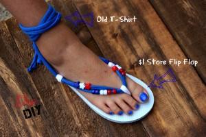 369d5e23aca244 Make Your Own Flip Flops (Gladiator Style)