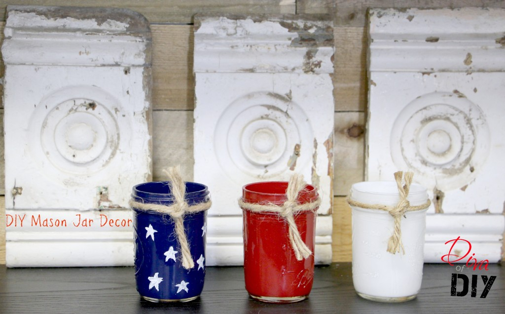 Mason Jar Craft Fourth of July Decor