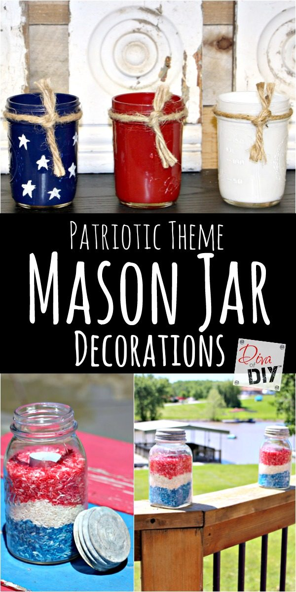 Mason Jars are a great inexpensive way to decorate for any holiday. This mason jar craft will be perfect for your 4th of July decorations! An easy craft!