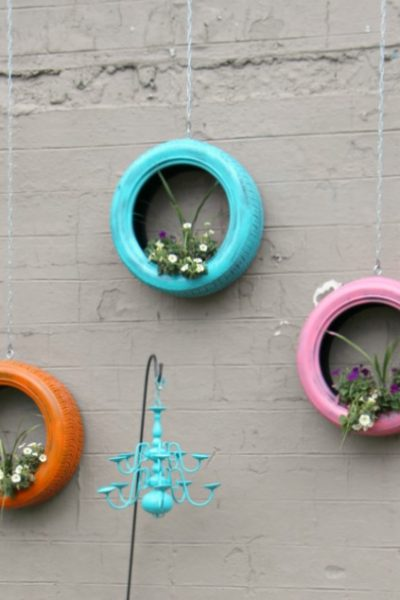 How to Make Easy and Unique Repurposed Tire Planters