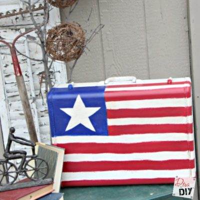 How to Upcycle a Suitcase for a 4th of July Decoration