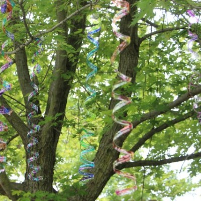 Fun Family Plastic Bottle Craft: Colorful Tree Spirals