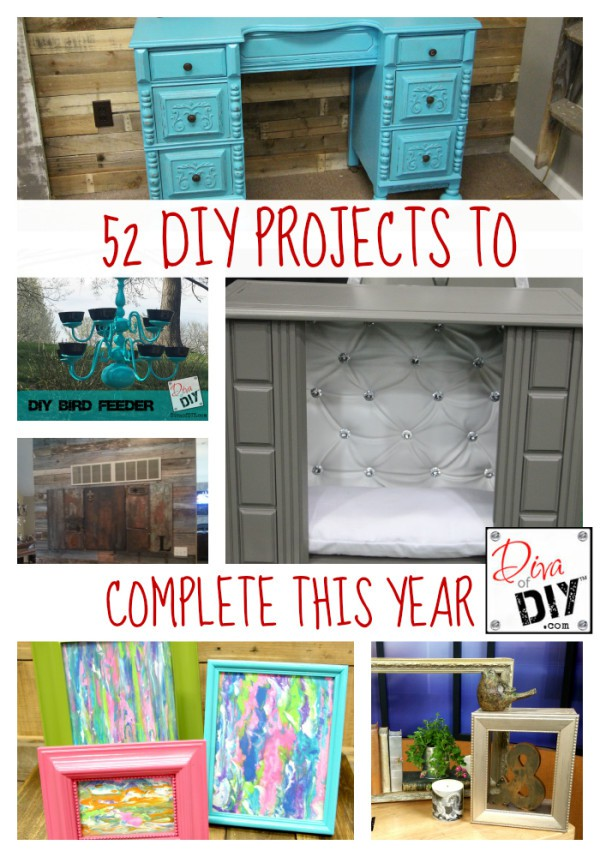 52 DIY Projects to Complete this Year