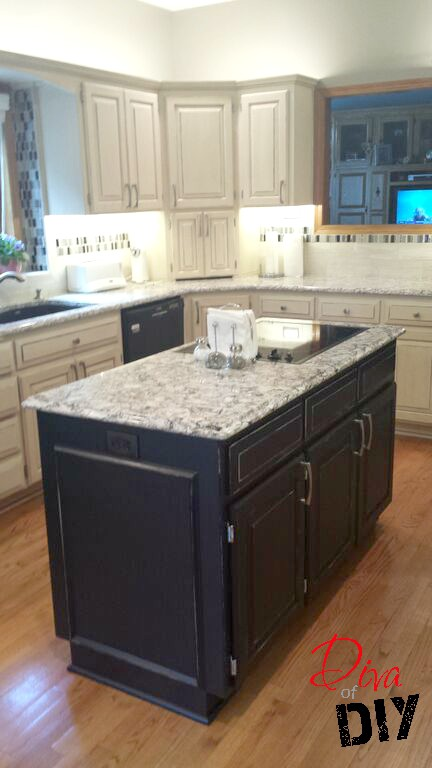 Kitchen Island Back Rustic Makeover After