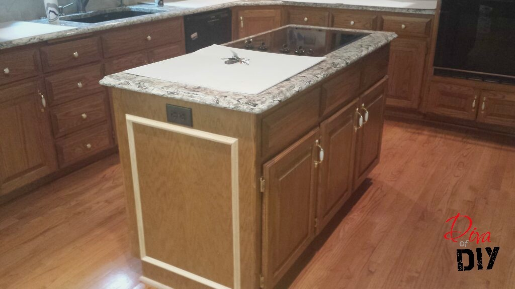 Kitchen Island Black Rustic Makeover