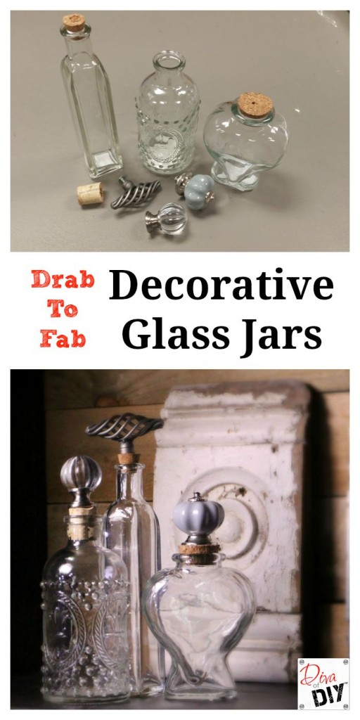 DIY Glass jars are gorgeous home decor, make great gifts, and are perfect for see-through storage. Adding a decorative top gives it a finished vintage look.