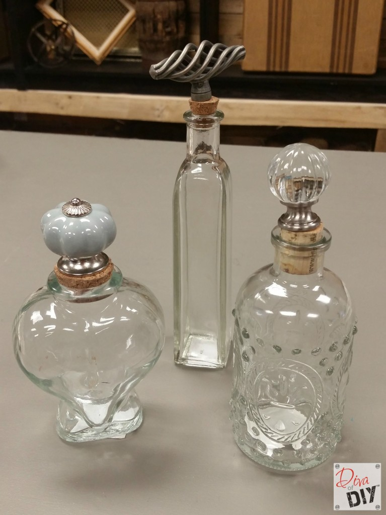 Decorative Glass Bottles And Jars