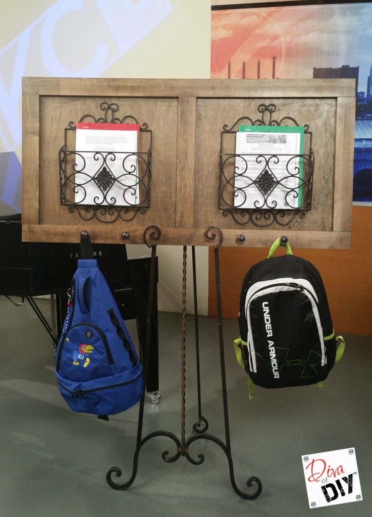 Thisorganization DIY backpack station is perfect for school organization! Organizing Idea that's attractive and functional with easy step by step tutorial!