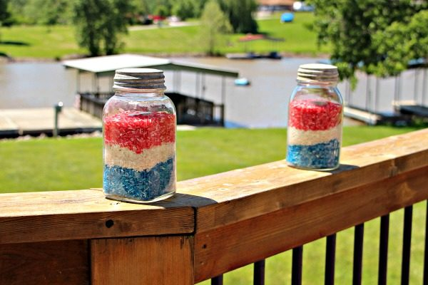 mason jar votive for 4th of july