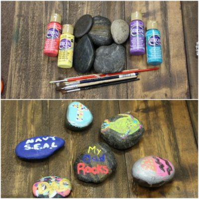 Quick and Easy crafts for kids: How to Paint Rocks