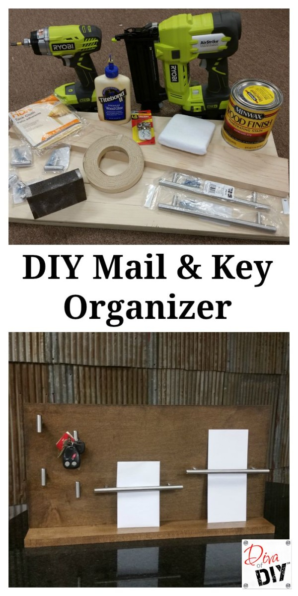 This DIY Key and Mail Organization System is a customizable organization system for the home. Build your own home organizing system & never loose your keys again!