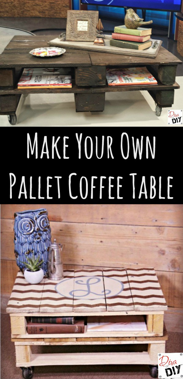 How to make a pallet coffee table for How to build a coffee table out of pallets