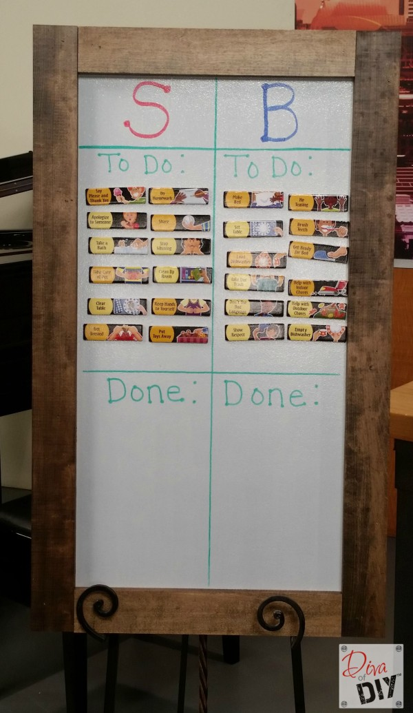 This magnetic and dry erase chore chart for kids makes it super easy for the to know exactly what is expected from them. Organization ideas for the home!