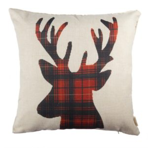 This deer pillow will add a touch of whimsy to your platform bed