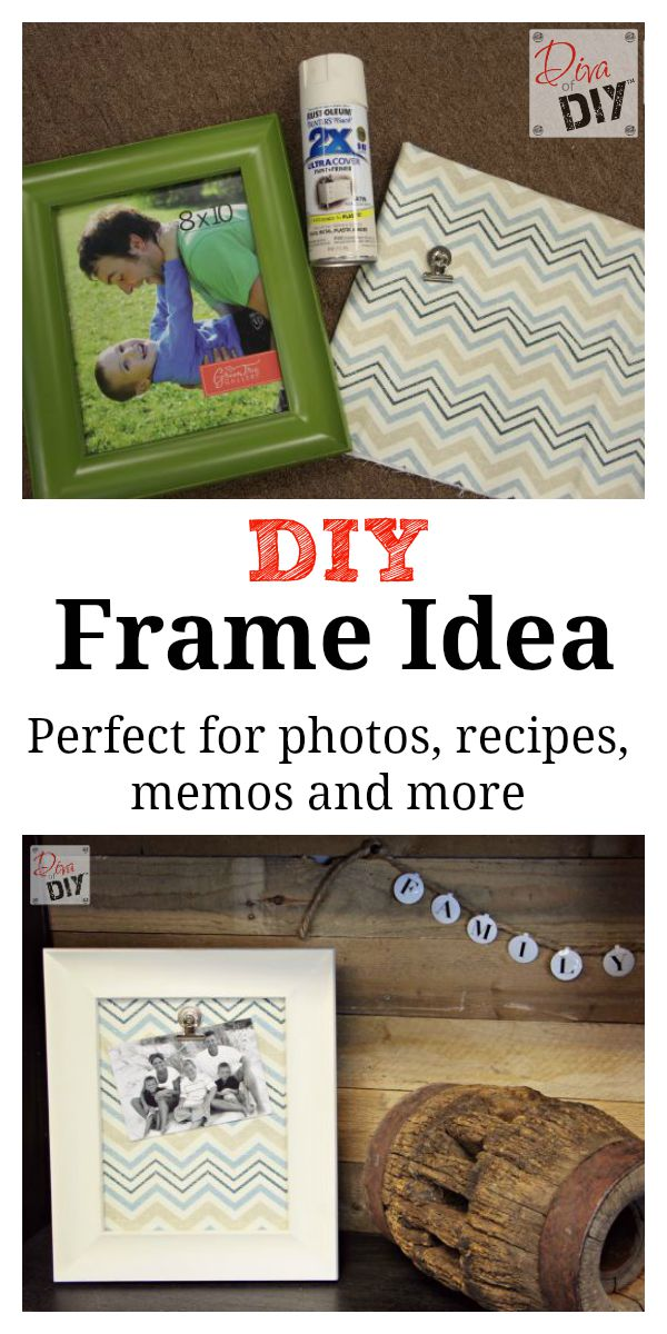 make your own easy change picture frames perfect for photos artwork recipes and - Easy Change Artwork Frames