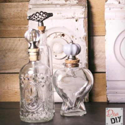 How to Make Glass Jars with Decorative Cork Stoppers
