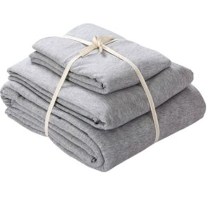This comfy jersey duvet cover is perfect for your platform bed