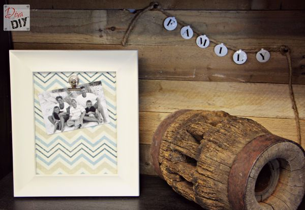 This DIY frame idea is perfect for photos, recipes , memos and so much more. It also makes the perfect gift