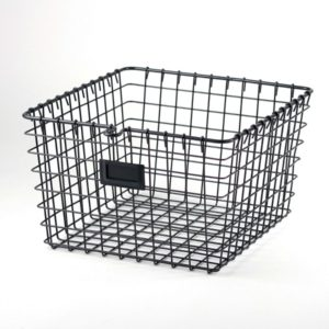 This metal basket will give your new platform bed an industrial look