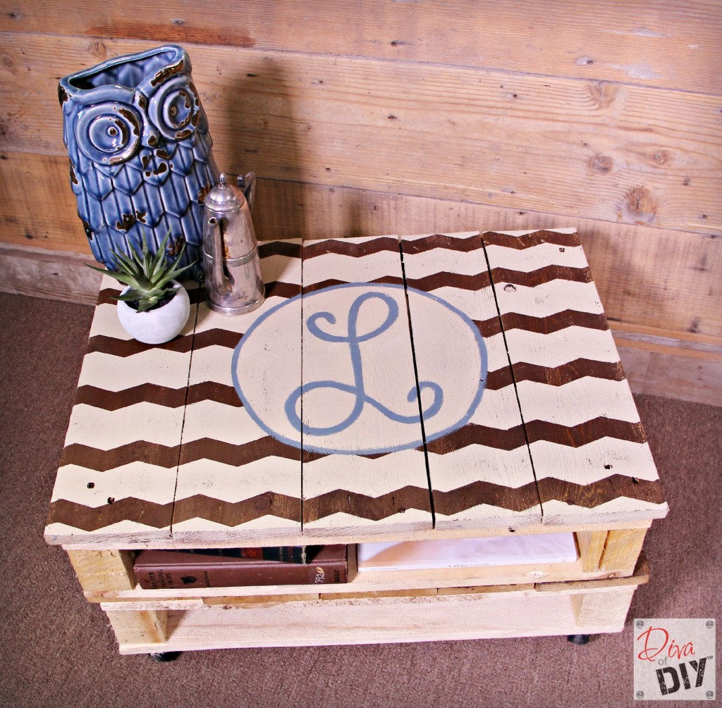 DIY pallet coffee table you can paint or stain. See Easy step by step tutorial and video! Easy pallet project DIY for the beginner! Rustic Pallet Furniture!