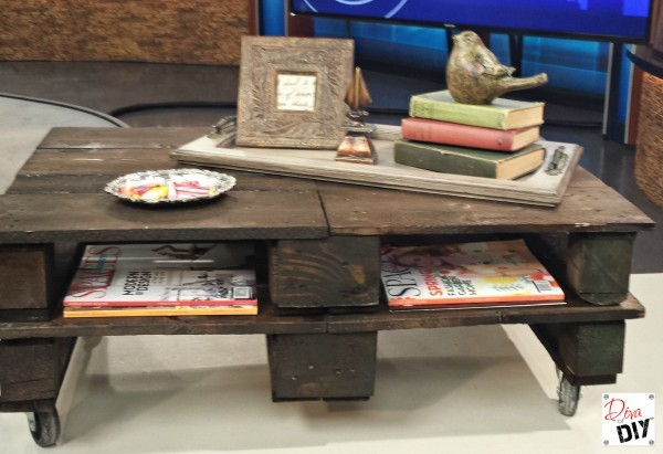 You've seen it on Pinterest and wanted to know how to make a pallet coffee table! The Diva of DIY shows you how with step by step instruction and a video!