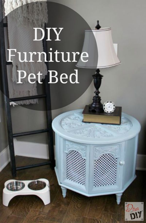 How To Make A Repurposed Pet Bed Out Of An Old End Table