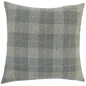 Add this plaid euro sham to your platform bed