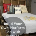 How to Make Your Own DIY Platform Bed with Storage