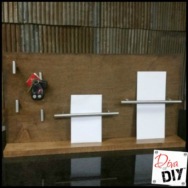 make your own diy key and mail organization system