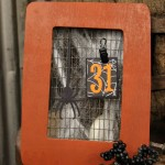 Halloween decorations | easy calendar frame