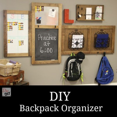 How to Make your own Organizing Backpack Station