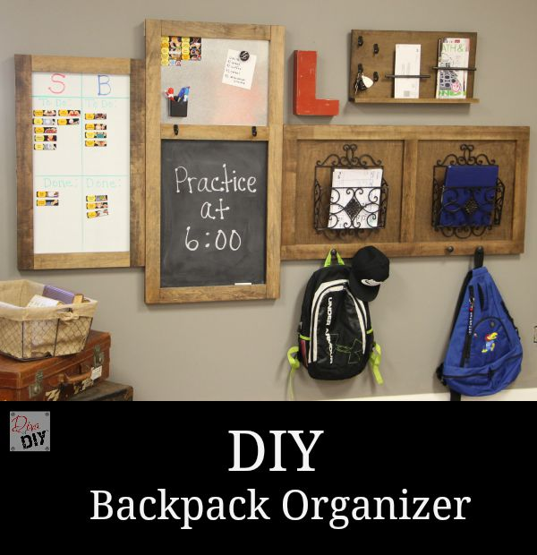 diy backpack organizer