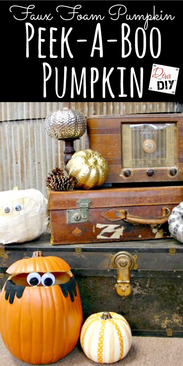 Add a little whimsy to your fall decor with a googly-eyed pumpkin. The perfect Halloween Craft for Kids and Kids Halloween Party Decorations!