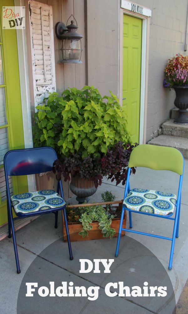 Folding chairs are perfect for extra seating. Bring them out when you need them and tuck them away in a closet when you don't.