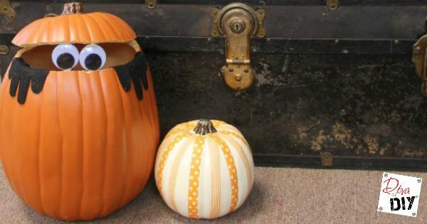 Kids Halloween Craft How To Make A Peek A Boo Pumpkin