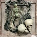 halloween decorations | skull wreath