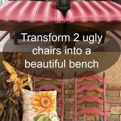How to Make a Bench Out of 2 Repurposed Chairs