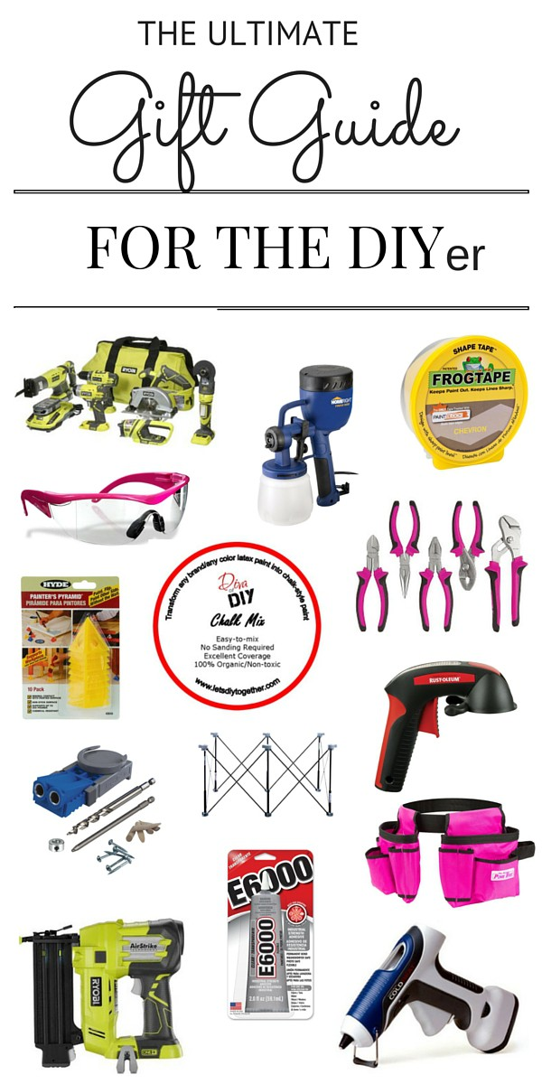 Do you know anyone who likes to tackle DIY projects on their own? This gift guide for the DIYer is the perfect solution for the DIYer on your list.
