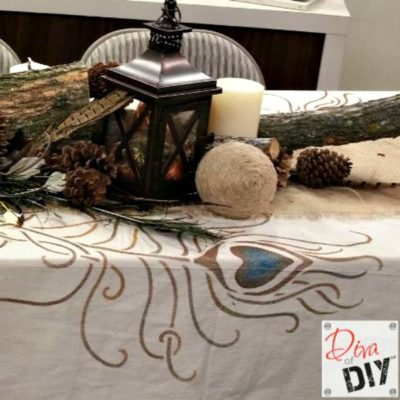 Homemade Tablecloth: How to Make a Drop Cloth Tablecloth