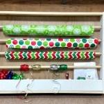 easy gift wrap organizer