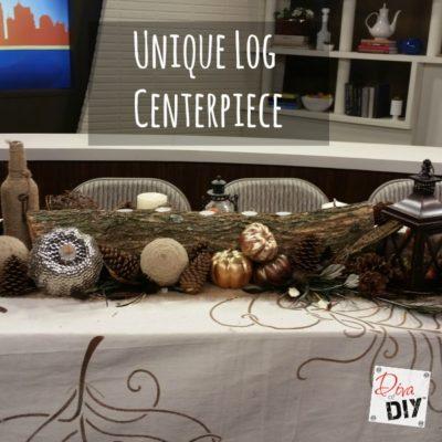 Fall Table Decorations: Make a Unique Log Centerpiece